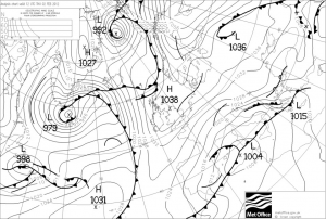 The 2nd  of February  weather forecast from the Met Office, valid at 12UTC