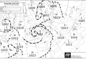 UK Met Office Synoptic analysis for 00 UTC on the 2nd of August 2012